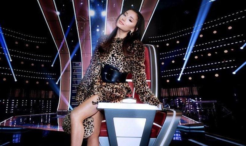 """Ariana Grande no """"The Voice"""" nos EUA"""