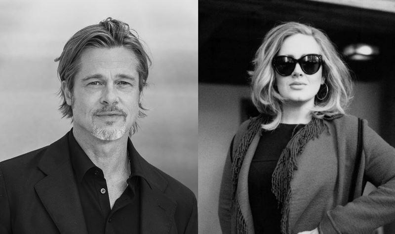 """Adele e Brad Pitt """"mais próximos que nunca""""..."""