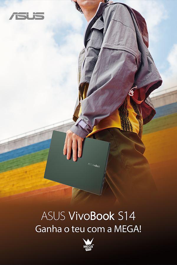 Ganha um ASUS Vivobook S14 com a ASUS e a MEGA HITS!