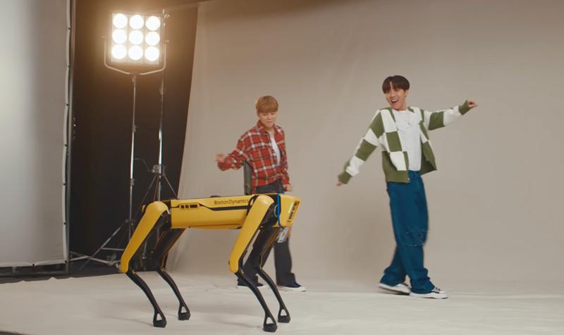 BTS são banda sonora de dança para robots